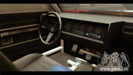 GTA 5 Declasse Sabre GT Turbo pour GTA San Andreas vue de droite