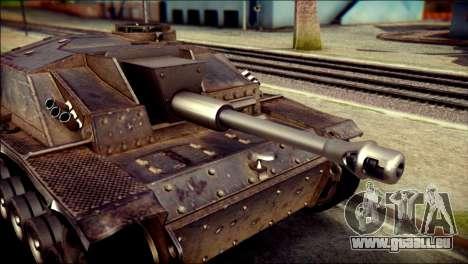 StuG III Ausf. G pour GTA San Andreas sur la vue arrière gauche