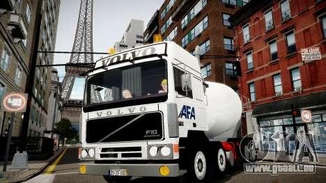Volvo F10 cement truck pour GTA 4 Vue arrière de la gauche