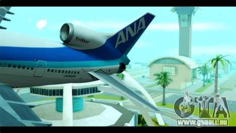 Lookheed L-1011 ANA pour GTA San Andreas sur la vue arrière gauche