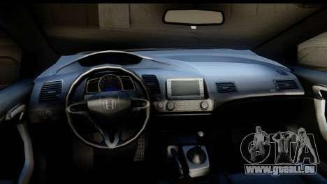 Honda Civic SI Juiced Tuned Shinon Itasha für GTA San Andreas Innenansicht