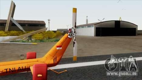 MBB BO-105 Basarnas für GTA San Andreas zurück linke Ansicht