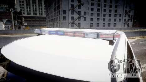Ford Explorer 2011 Elizabeth Police [ELS] v2 für GTA 4 Rückansicht