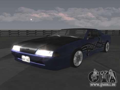 Elegy Paintjobs pour GTA San Andreas sur la vue arrière gauche