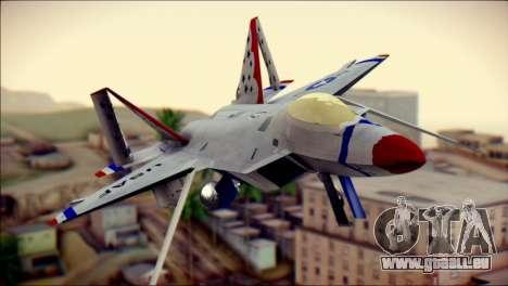 F-22 Raptor Thunderbirds für GTA San Andreas Rückansicht