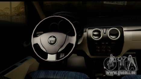 Dacia Lodgy 2014 pour GTA San Andreas vue intérieure