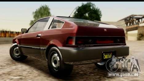 GTA 5 Dinka Blista Compact für GTA San Andreas linke Ansicht