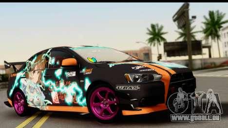 Mitsubishi Lancer Evolution X 2014 Itasha pour GTA San Andreas