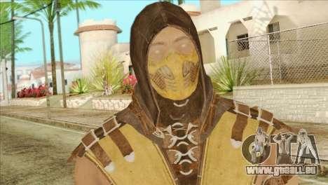 Mortal Kombat X Scoprion Skin pour GTA San Andreas troisième écran