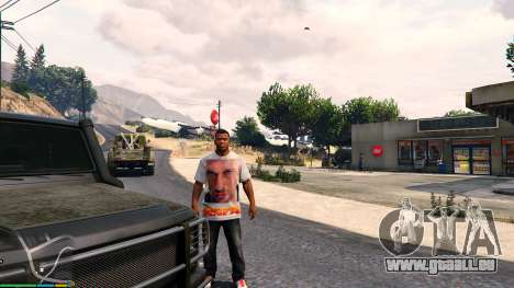 GTA 5 T-shirt for Franklin. - Fizruk sixième capture d'écran