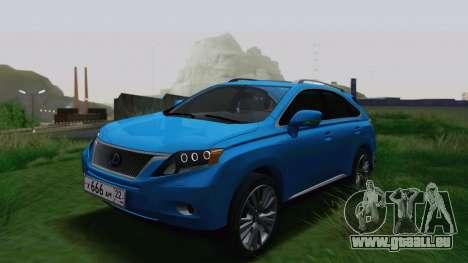 Lexus RX450h v3 pour GTA San Andreas
