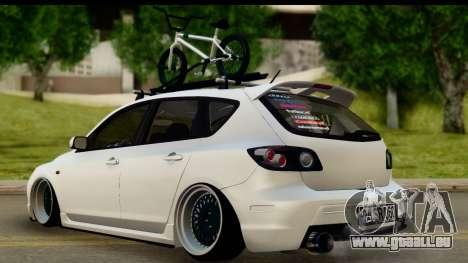 Mazda 3 2008 pour GTA San Andreas laissé vue