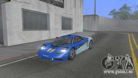 1992 McLaren F1 Clinic Model Custom Tunable v1.0 für GTA San Andreas obere Ansicht