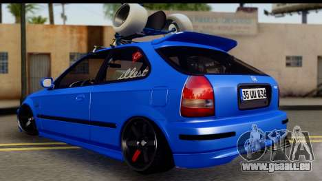 Honda Civic Hatchback für GTA San Andreas linke Ansicht