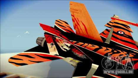 FA-18D Hornet RCAF Tigermeet pour GTA San Andreas sur la vue arrière gauche