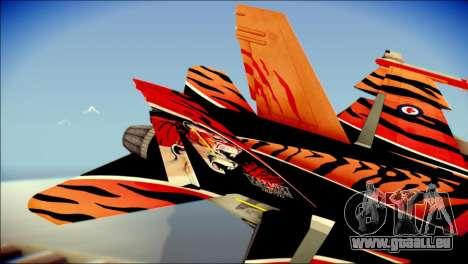 FA-18D Hornet RCAF Tigermeet für GTA San Andreas zurück linke Ansicht