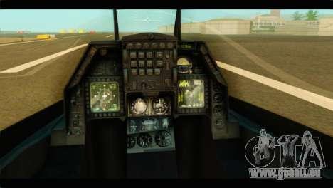 Lockheed Martin F-16C Fighting Falcon Warwolf für GTA San Andreas Rückansicht