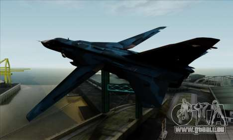SU-24MP Fencer Blue Sea Camo für GTA San Andreas linke Ansicht