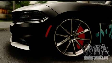 Dodge Charger RT 2015 Sword Art für GTA San Andreas Rückansicht
