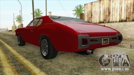 GTA 5 Declasse Stallion für GTA San Andreas linke Ansicht