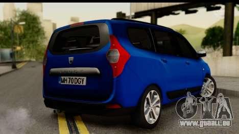 Dacia Lodgy 2014 pour GTA San Andreas laissé vue