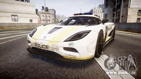 Koenigsegg Agera 2013 Police [EPM] v1.1 PJ2 für GTA 4