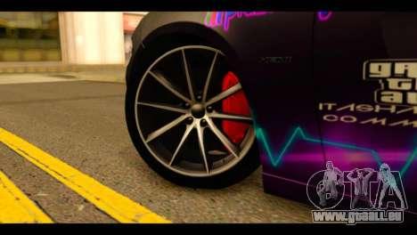 Dodge Charger RT 2015 Hestia pour GTA San Andreas sur la vue arrière gauche