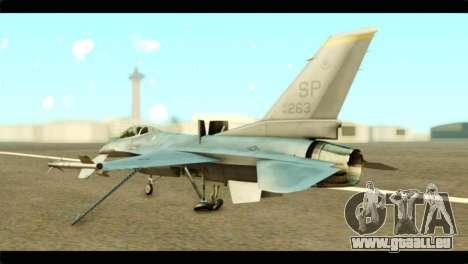 Lockheed Martin F-16C Fighting Falcon Warwolf für GTA San Andreas linke Ansicht