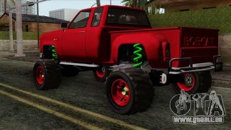 Bobcat Fx4 pour GTA San Andreas laissé vue