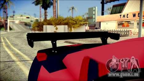 Chevrolet Camaro ZL1 Indonesian Police v2 pour GTA San Andreas vue arrière