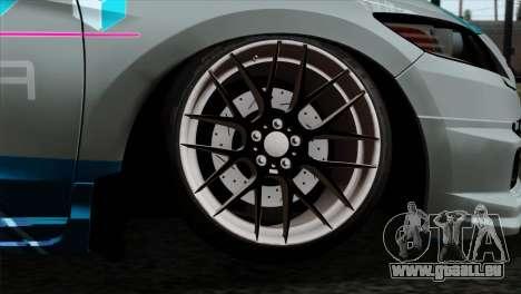 Honda CRZ Mugen Stance Miku Itasha pour GTA San Andreas sur la vue arrière gauche