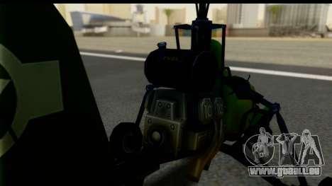 Gyrocopter pour GTA San Andreas sur la vue arrière gauche