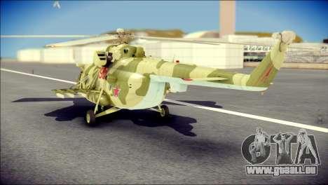 Mi-8 Hip pour GTA San Andreas laissé vue