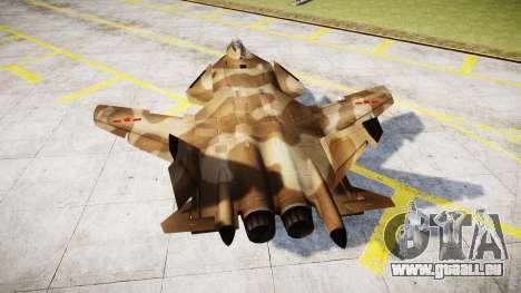 Su-47 Berkut desert pour GTA 4 Vue arrière de la gauche