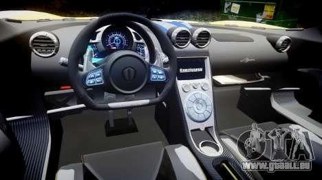 Koenigsegg Agera 2013 Police [EPM] v1.1 Low Qual pour GTA 4 est une vue de l'intérieur