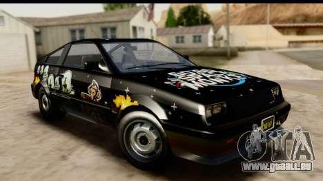 GTA 5 Dinka Blista Compact pour GTA San Andreas vue de côté