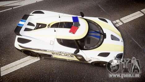 Koenigsegg Agera 2013 Police [EPM] v1.1 PJ2 für GTA 4 rechte Ansicht