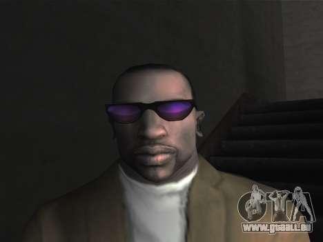 De nouvelles lunettes pour CJ pour GTA San Andreas quatrième écran