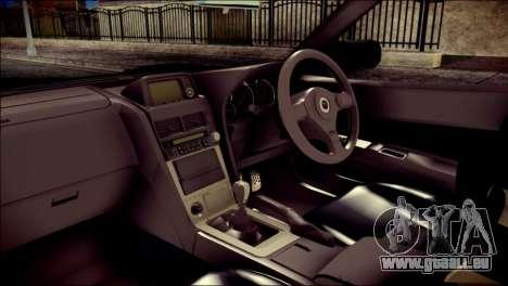 Nissan Skyline GTR V Spec II v2 pour GTA San Andreas vue de droite