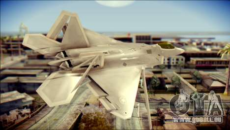 F-22 Gryphus, Falco and Antares für GTA San Andreas linke Ansicht