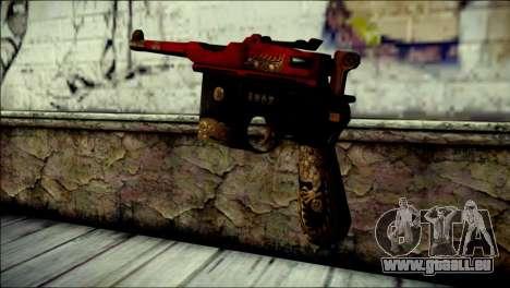 Mauser M1896 Royal Dragon CF pour GTA San Andreas deuxième écran