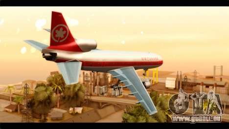 Lookheed L-1011 Air Canada pour GTA San Andreas laissé vue