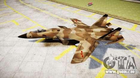Su-47 Berkut desert für GTA 4 linke Ansicht