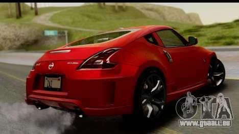 Nissan 370Z Nismo 2010 pour GTA San Andreas laissé vue