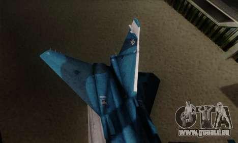 SU-24MP Fencer Blue Sea Camo pour GTA San Andreas sur la vue arrière gauche