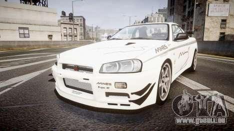 Nissan Skyline R34 GT-R Mines pour GTA 4