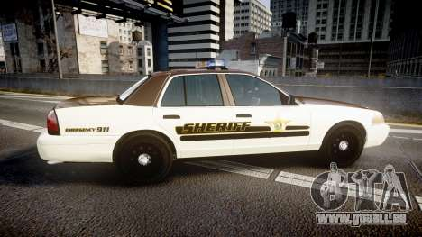 Ford Crown Victoria Liberty Sheriff [ELS] für GTA 4 linke Ansicht