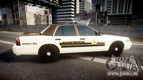 Ford Crown Victoria Liberty Sheriff [ELS] pour GTA 4 est une gauche