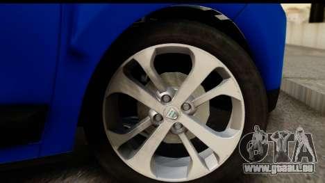 Dacia Lodgy 2014 für GTA San Andreas Rückansicht