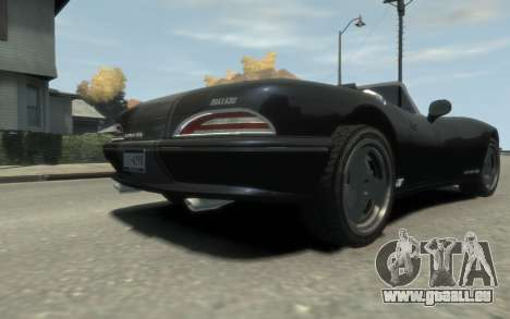 GTA 3 Bravado Banshee HD für GTA 4 Innenansicht